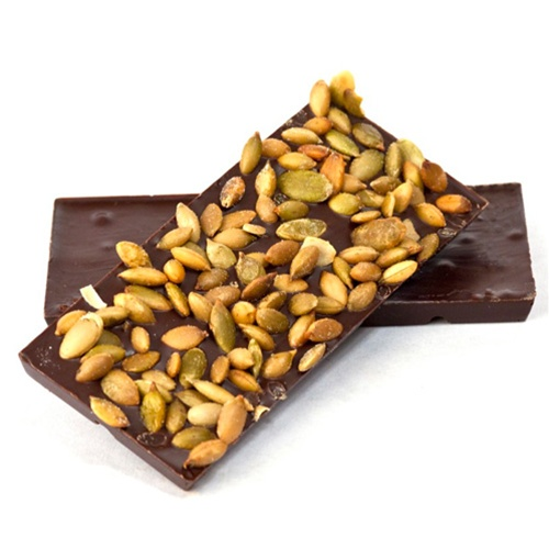 Meeteetse Chocolatier pumkin seed and dark chocolate bar
